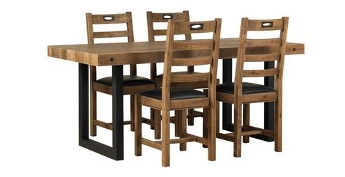 Toronto Fixed Table & Set of 4 Ladderback Chairs Toronto | DFS