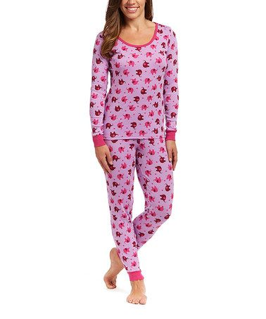 Loving this Lavender Elephant Pajama Set - Women on #zulily! #zulilyfinds