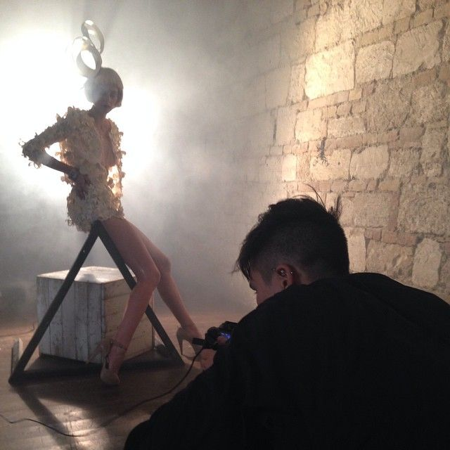 Werk from paper couture photoshoot! // Edinas Paper Installations