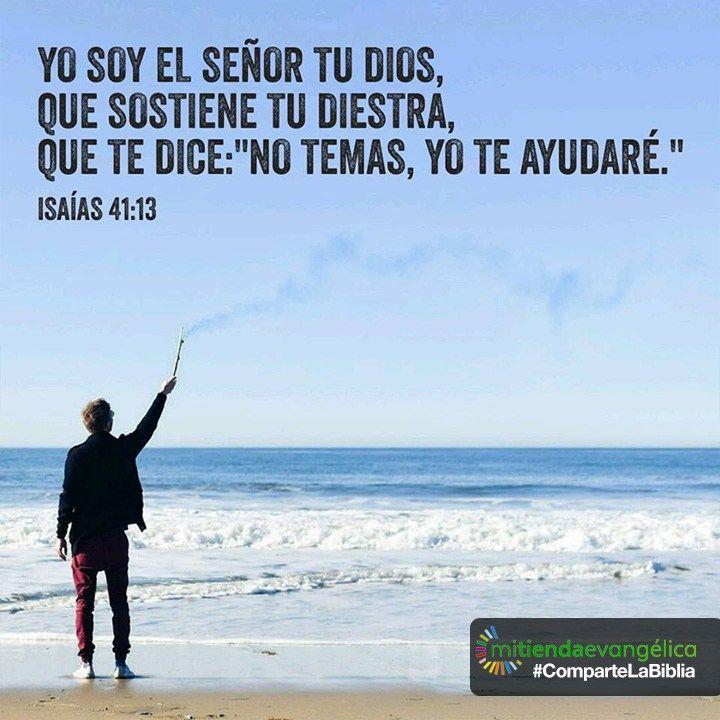 Versiculo de la #Biblia Isaías 41:13 #Dios #God