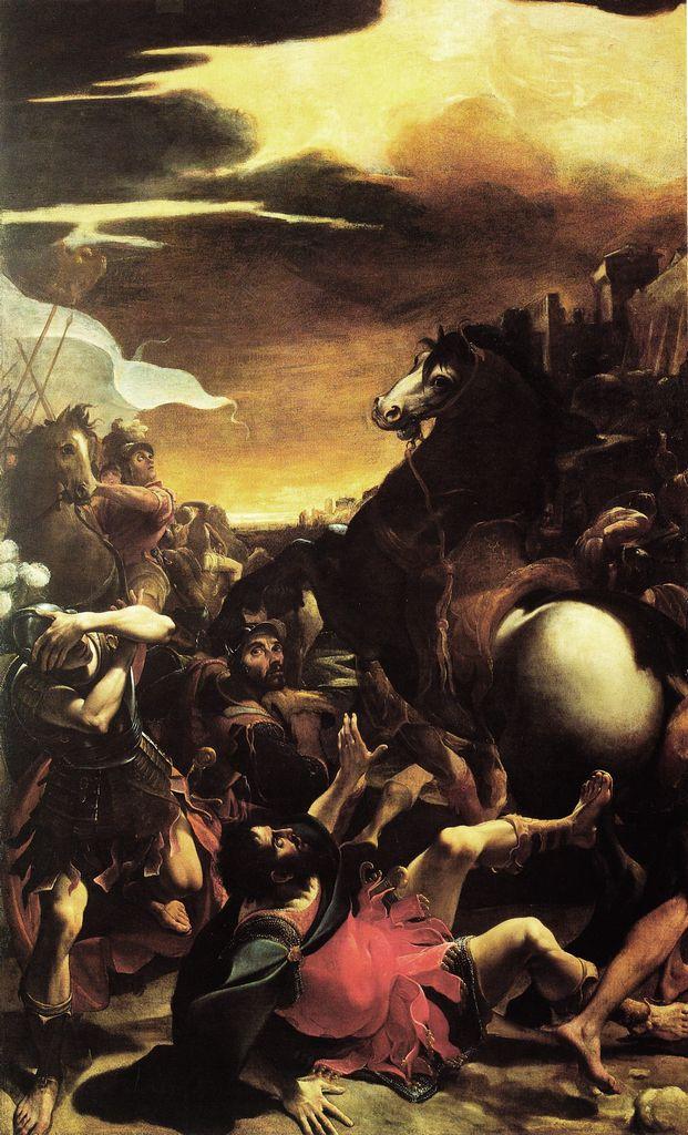 ludovico Carracci conversione di Paolo disse guercino stesso di aver tratto profitto dalla visione di quest'opera