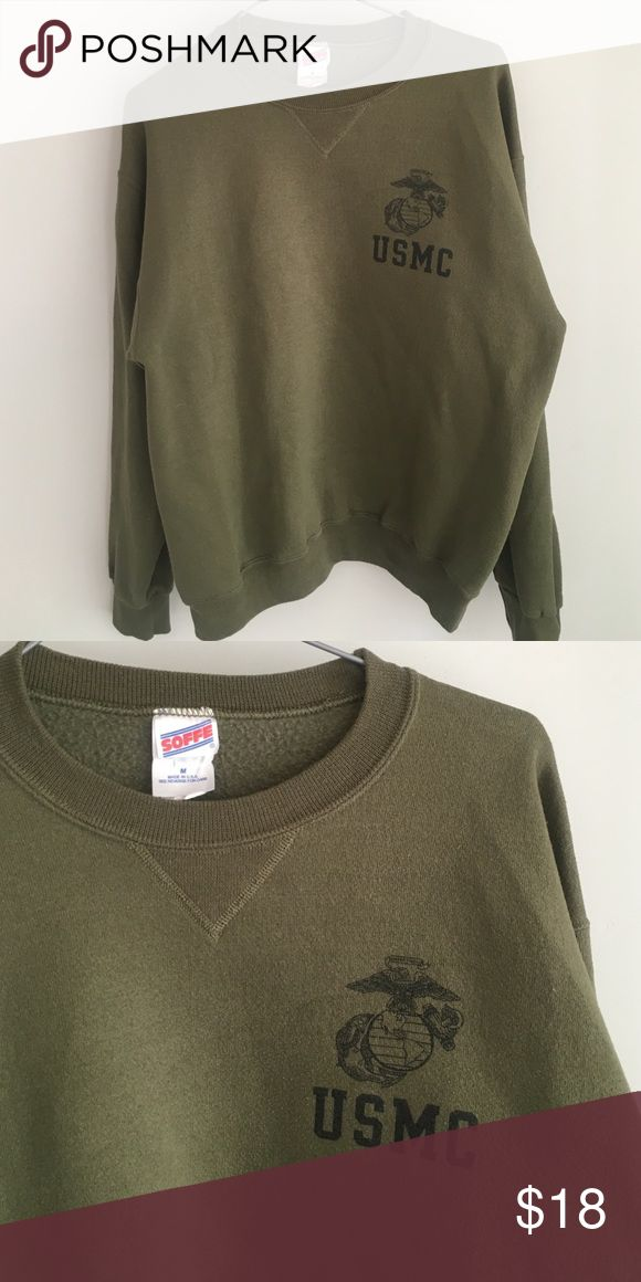 Marine corps sweatshirt Military green sweatshirt with Usmc emblem in front. Brand listed for views. Check out what else I'm selling Urban Outfitters Sweaters