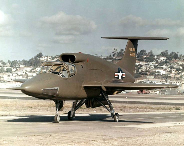 Ryan XV-5 Vertifan (1964) was a jet-powered V/STOL experimental aircraft in the 1960s. The U.S. Army commissioned the Ryan VZ-11RY (which was redesignated as the XV-5 in 1962) in 1961