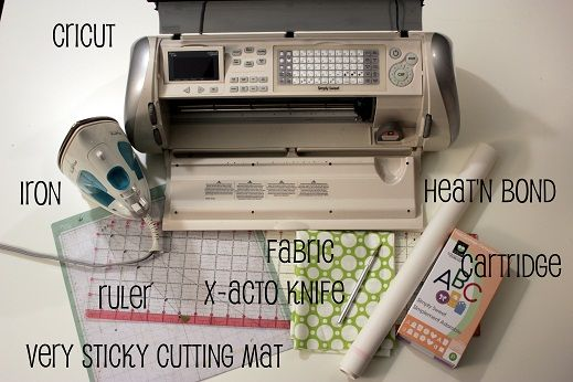 cutting fabric with a Cricut tutorial