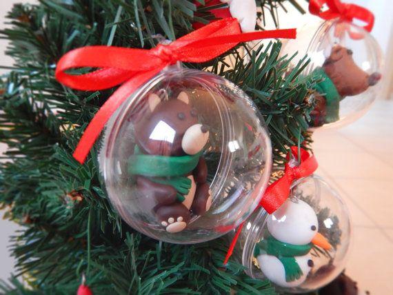 Palline di Natale con pupazzo di neve di LaurasTouchArtcrafts