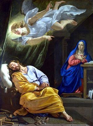 Philippe de Champaigne, The Dreamof Saint Joseph, c.1642-3