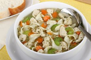 Shredder Chicken Noodle Soup ~ The secret to Dr. Ian Smith's Shredder Diet is keeping your metabolism off-kilter by eating different foods at different times. Soups are a great way to break up the monotony of dieting. Try this fast and filling chicken noodle soup from Dr. Smith's wife Triste.