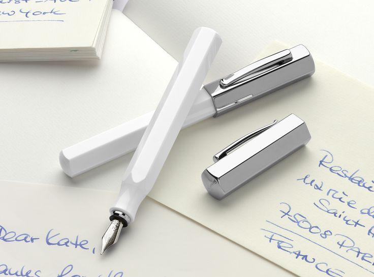 Faber Castell Stilou Ondoro White (fountain pen) www.Jarrive.ro
