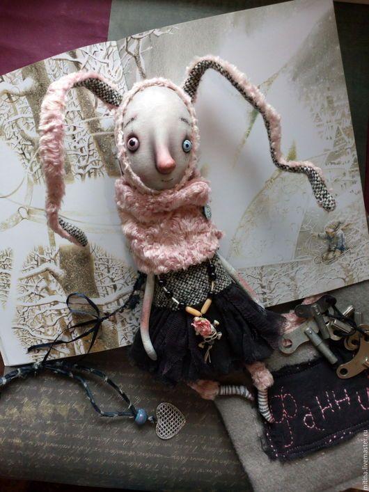 Muñecas y juguetes hechos a mano.  Masters Fair - hecho a mano.  Comprar conejo de Fanny.  Hecho a mano.  Crema, muñecas, malla
