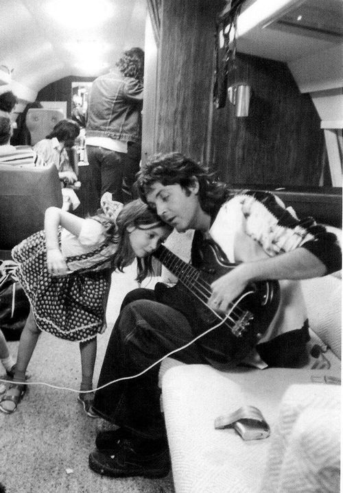 Paul McCartney with his daughter Mary McCartney