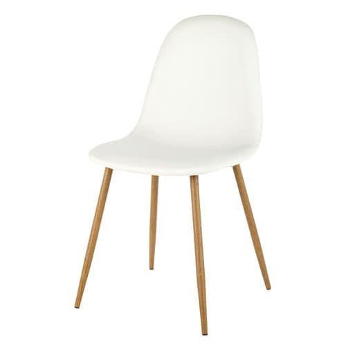 Clyde - Stuhl in skandinavischem Stil, weiß