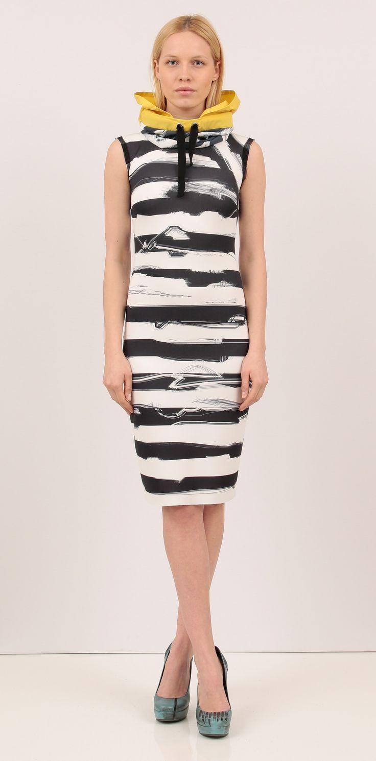 Midi stripe print dress - Dresses  http://shop.lenacriveanu.ro/
