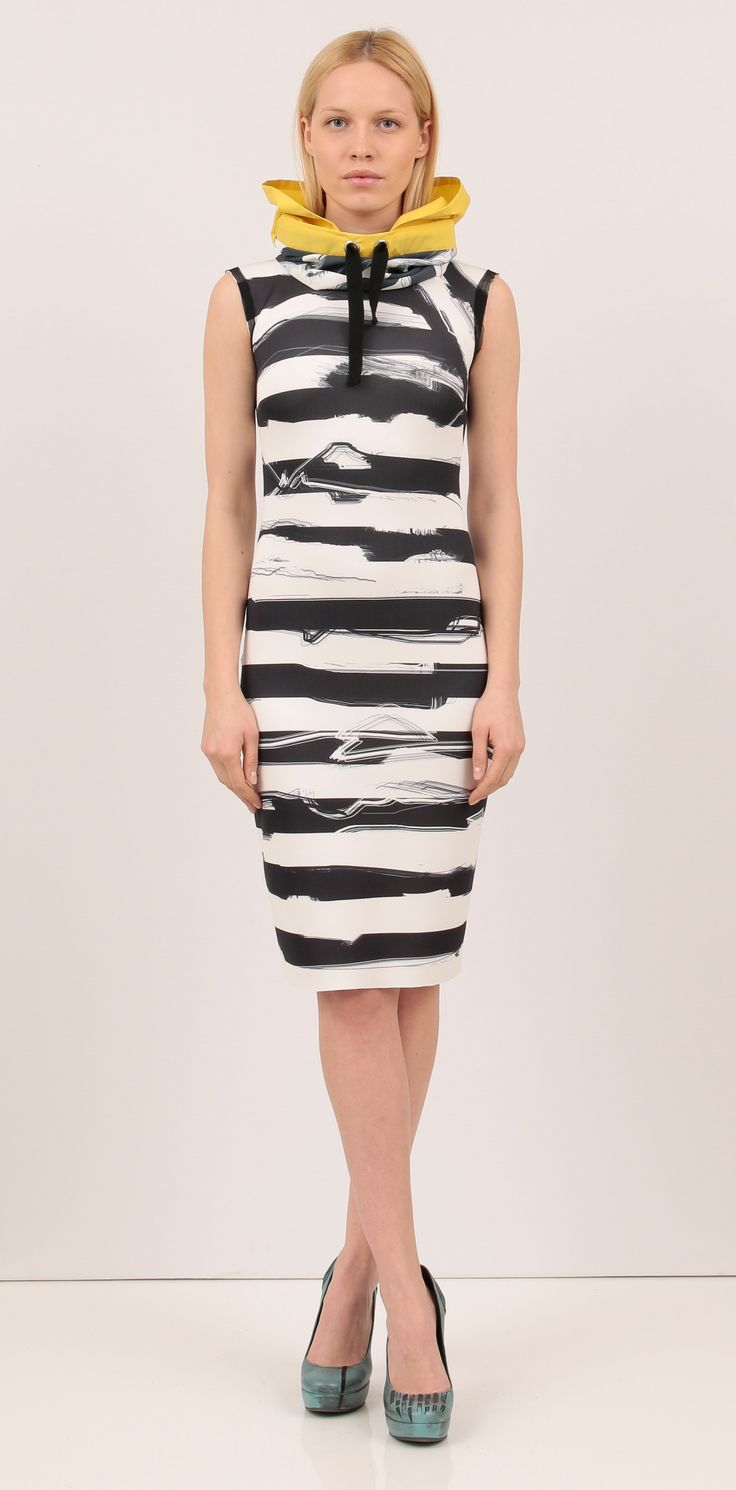 Midi stripe print dress - Dresses  http://shop.lenacriveanu.ro/