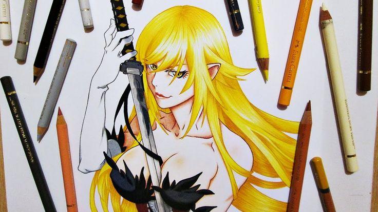 Drawing Shinobu Oshino | Kiss-Shot Acerola-Orion Heart-Under-Blade || Ki...
