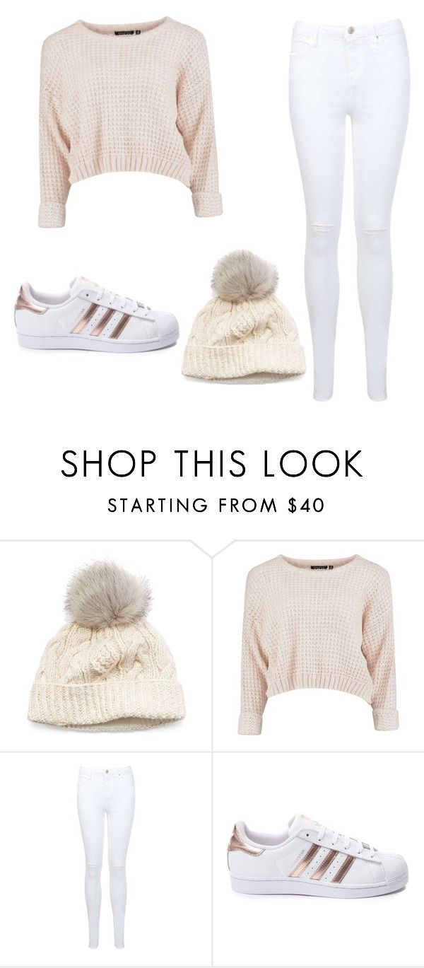 """Nude vibes"" by the-cat-girl ❤ liked on Polyvore featuring SIJJL, Miss Selfridge and adidas"