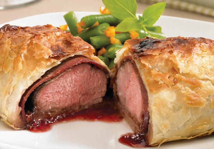 One of our featured recipes, try this Wellington Duck Breast with Raspberries.