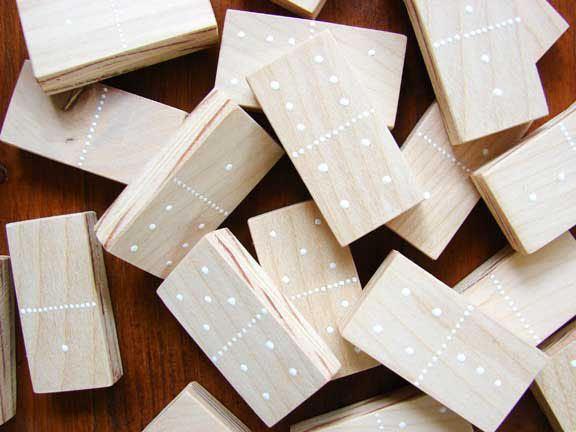 DIY Father's Day Crafts: Dominoes