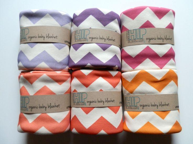 Chevron Baby Blanket, Soft Organic Cotton