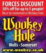 Save 50% on tickets for up to 5 tickets when you show your Rewards For Forces card at Wookey Hole.