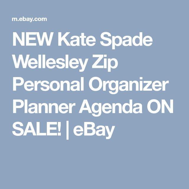 NEW Kate Spade Wellesley Zip Personal Organizer Planner Agenda ON SALE! | eBay