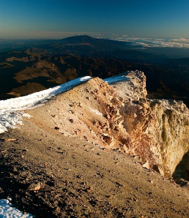 edge of caldera at summit of pico de orizaba in #mexico