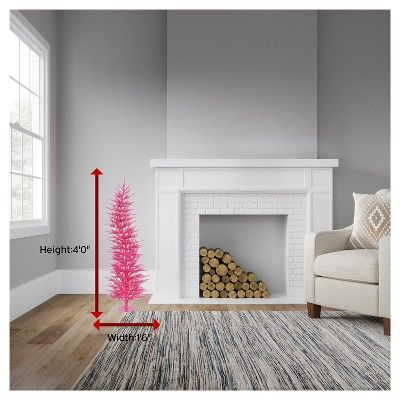 4ft Pre-Lit Artificial Christmas Tree Pink Laser - with 70 Pink Led Lights