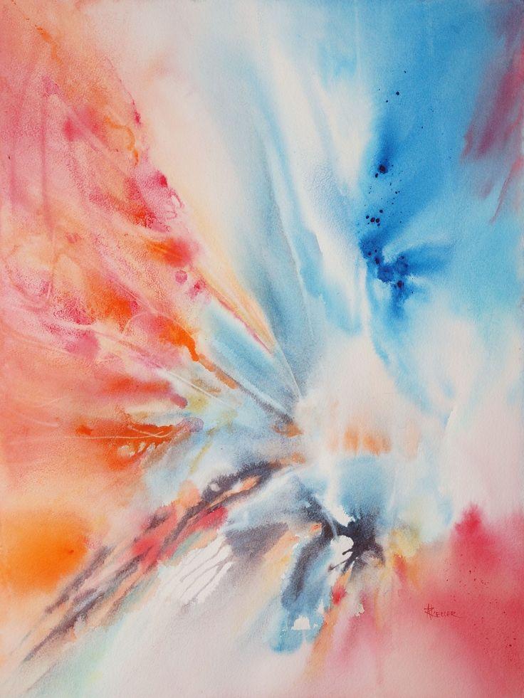 17 meilleures id es propos de aquarelle abstraite sur - Harmonisation des couleurs peinture ...