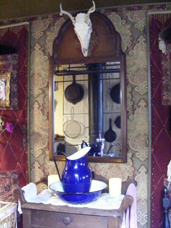 The antique mirror is perfect above the 1869 wash stand for Wash basin mirror price