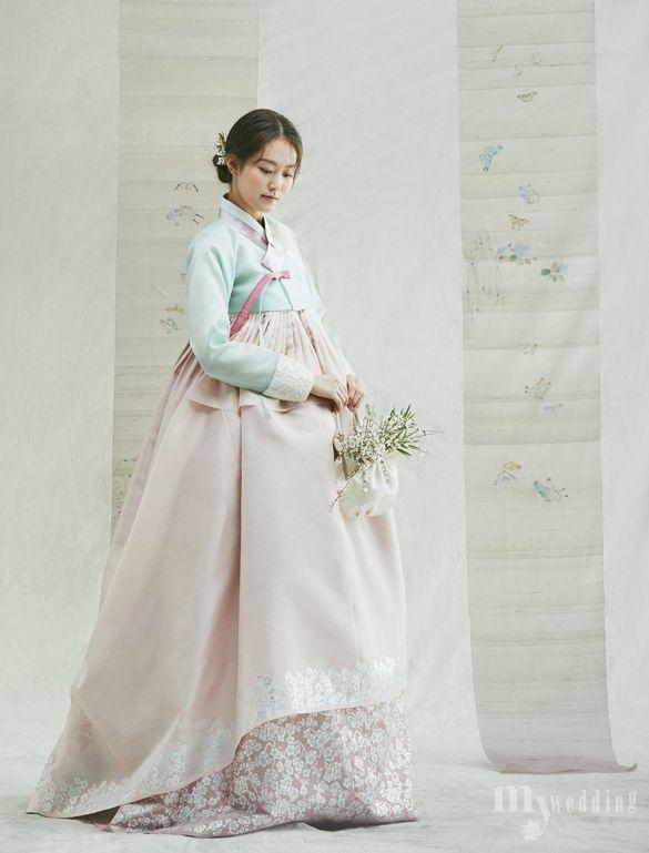 MYWEDDING 봄 향기 가득 담은 신부 한복 한복, 작품이 되다