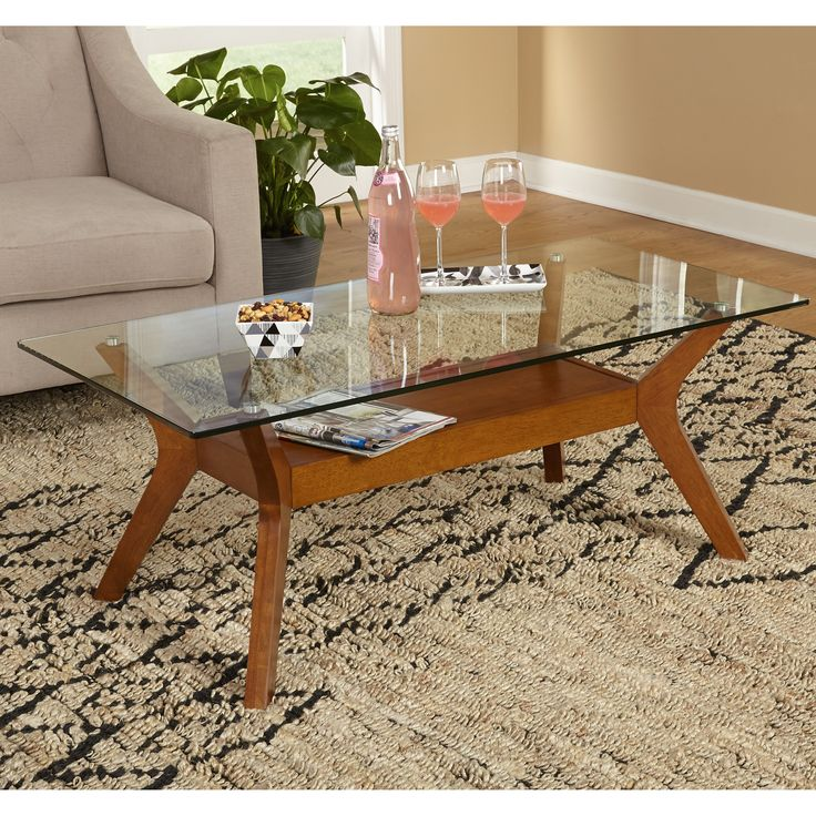 Modern Glass Coffee Table, Coffee Tables Glass And Wood