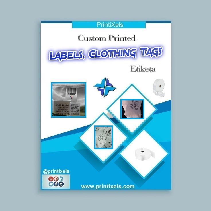 Custom Printed Labels Clothing Tags Etiketa