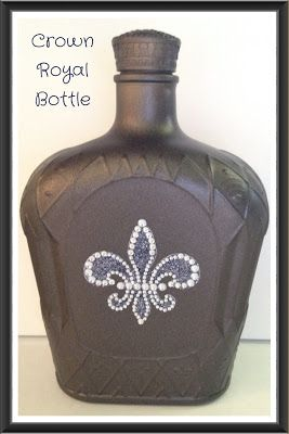 spray painted crown royal bottle #SIPIMI blog