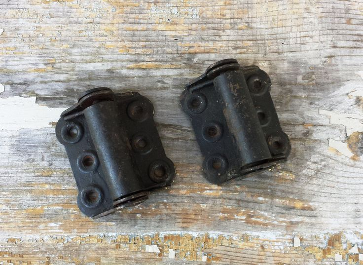 Vintage Screen Door Hinges ~ Spring Loaded Hinge ~ Restoration Hardware ~ Butterfly Hinges ~ Salvaged Hardware ~ Self Closing Hinge by NewLifeVintageGoods on Etsy