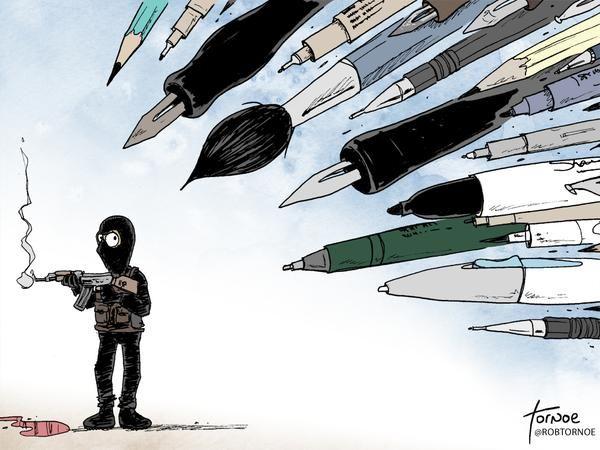 La liberté de la presse en classe de FLE pour ne pas oublier que c'est une chose précieuse et rendre hommage aux victimes de l'attentat contre Charlie Hebdo