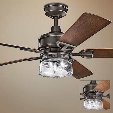 "60"" Kichler Lyndon Patio Olde Bronze Outdoor Ceiling Fan - #1H530 