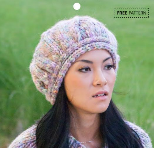 Free Knitting Pattern Beret Straight Needles : 1335 best images about Hats - Knitting and Crochet Patterns on Pinterest Ca...