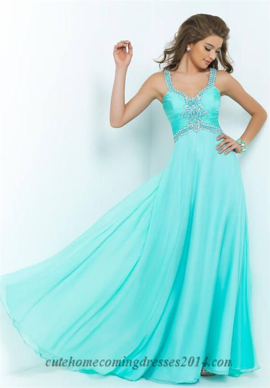 Blush 9989 Beaded Halter Neck Long Prom Dresses 2015