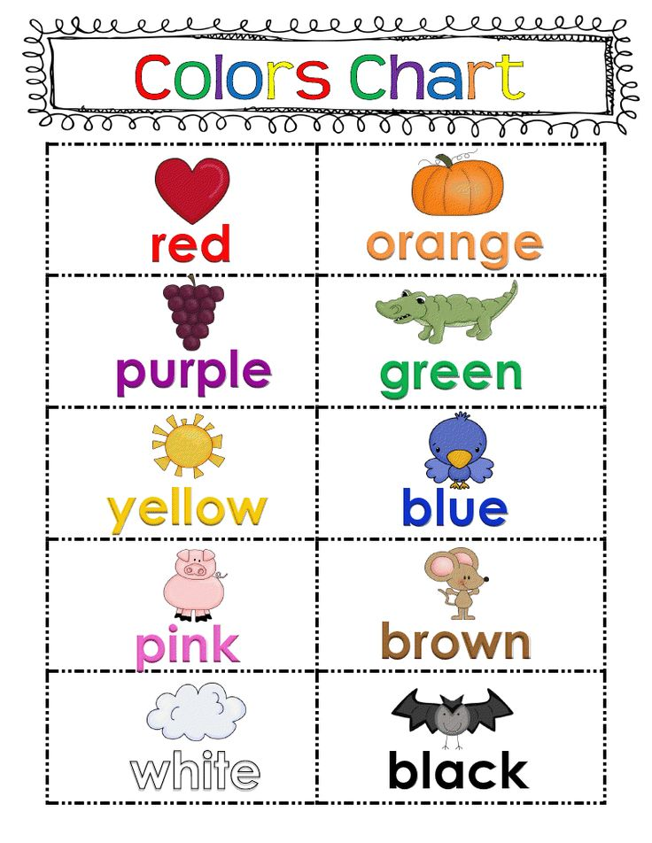 Freebie Color Chart Fun Classroom Ideas Kindergarten