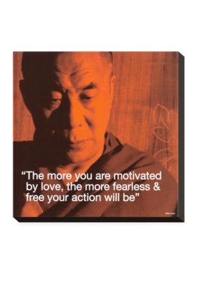 Art.com SmallAssorted Dalai Lama Fearless  Free Stretched Canvas Print - Online Only