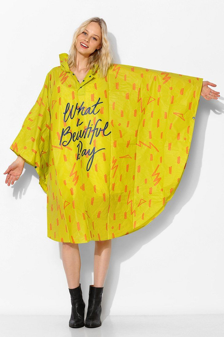 If you get caught having to wear a plastic rain poncho, why not make it a cute one? From urban outfitters.UO Poncho