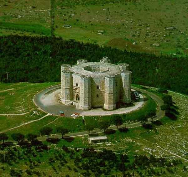 Castel del Monte, Puglia, Italy. Ancient Castle of unique shape, build in 1250 ca. by the Emperor Frederick II