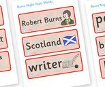 Burns Night, Literacy,  Primary Resources, Robert Burns, Scotland
