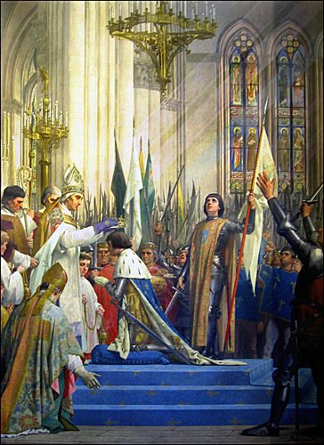 Joan of Arc with Her Banner at the Cornonation of Charles VII