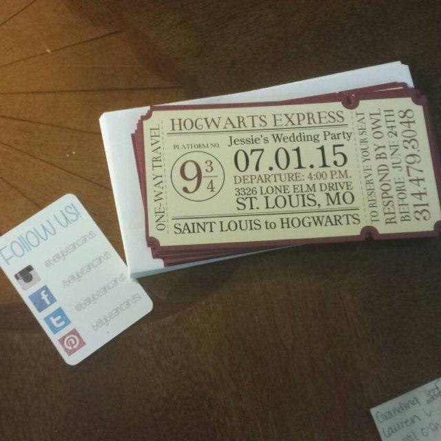 4 X 8 Hogwarts Express Zug Ticket Einladung Etsy Hogwarts Express Hogwarts Harry Potter Party