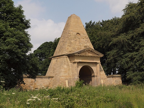 Obelisk In the grounds of Nostell Priory, a National Trust property near Barnsley, South Yorkshire.