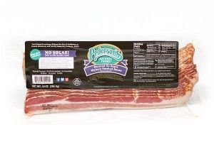 No Sugar Bacon, made by Pederson's Farms Carried by Whole Foods / Paleo & Whole30 approved!