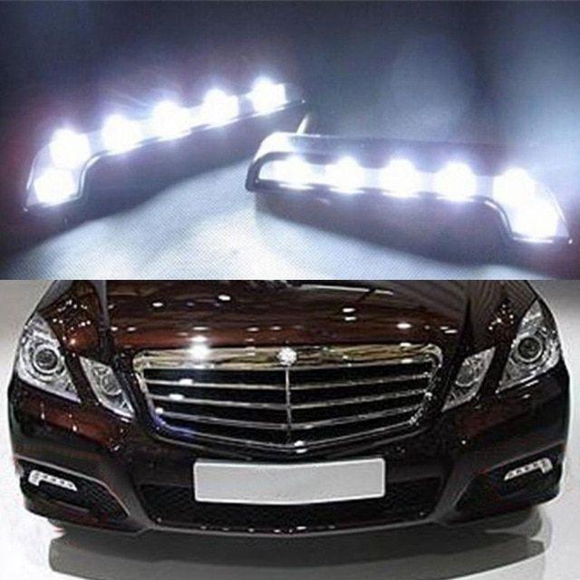 2pcs 12v Safelight Car Auto Styling Bulb Led Parking Car Fog Lamp Dc 12v 10w 6x Leds White Daytime Running Lights Review Fog Lamps Car Running Lights