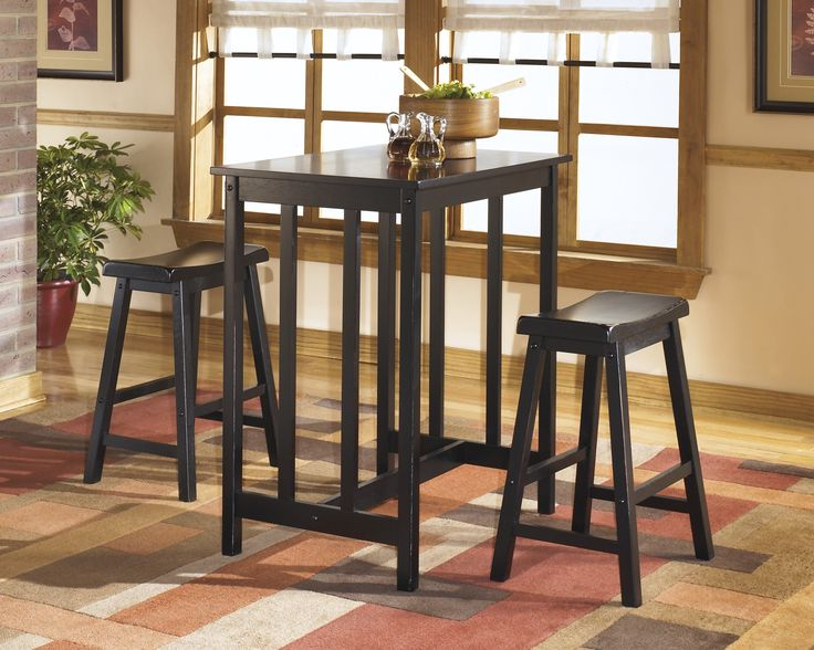 Conrad Rectangular Counter Height Table With 2 Backless Bar Stools By  Ashley Furniture At Furniture U0026 Bedding