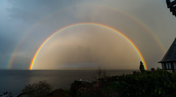 Double Rainbow! Posted by yumcax on Reddit.