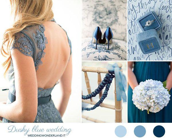 navy blue and dusky blue wedding inspiration